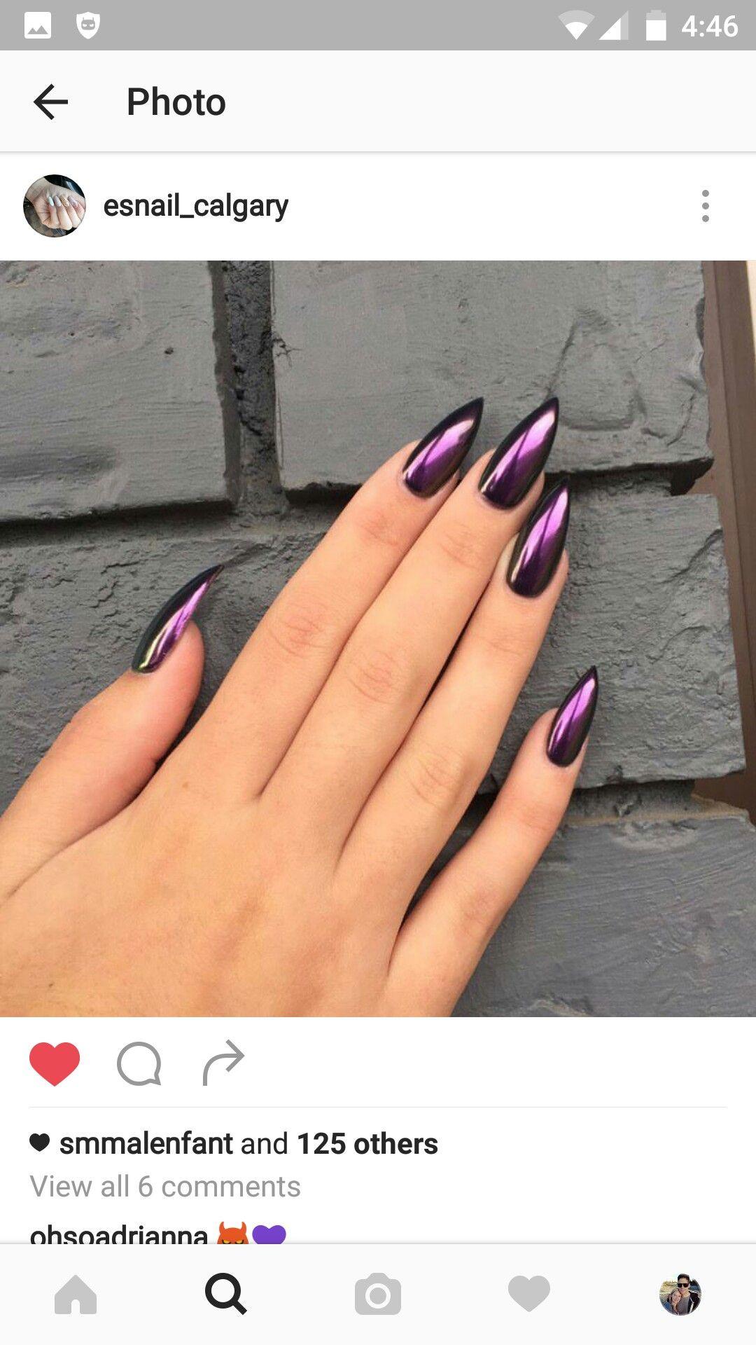 purple chrome nails | Nails | Pinterest | Nagelschere, Nageldesign ...