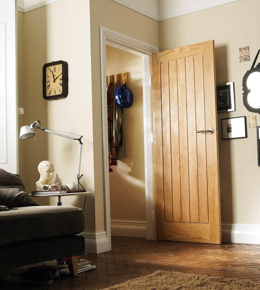 Internal Bathroom Doors: Interior Oak Veneer Cottage 35mm Jeld-Wen Door 1981x838