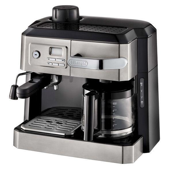 Delonghi Combination Drip Coffee Espresso Cappuccino And Latte Maker In 2020 Coffee And Espresso Maker Latte Machine Cappuccino Maker