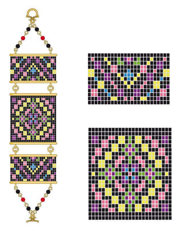 schemas tissage perles