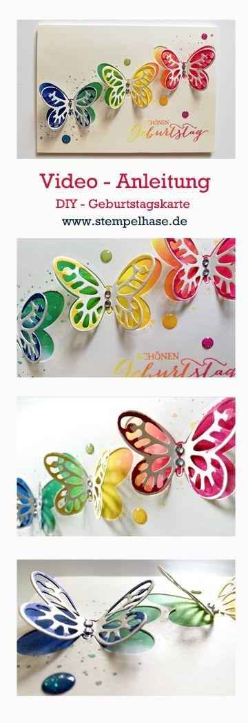 #stempelhase  #watercolor  #wings  #schmetterlinge  #stampin #Mit #den #kleinen  Mit den kleinen Watercolor Wings von Stampin´ Up! kannst du federleichte Schmetterlinge auf Deine Geburtstagskarte zaubern **** Werbung *** Wie das funktioniert kannst Du auf meinem Blog www.stempelhase.de nachlesen UND Dir als Video Tutorial ansehen. Die Schmetterlings - Karte ist geeignet für den Muttertag, zum Geburtstag, einfach Hallo sagen oder den kleinen Gruß für zwischendurch. Die kleinen Butterflys sind bei
