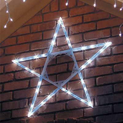 LED Cool White Hanging Outdoor Christmas Star  Outdoor Christmas