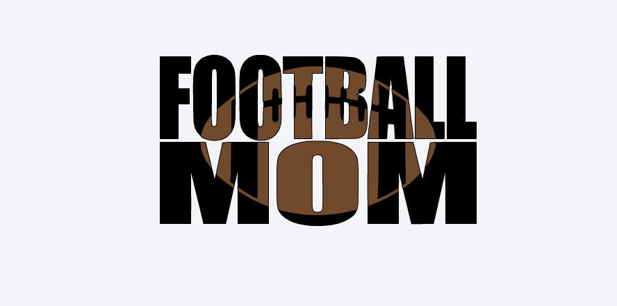 Football mom decal two color car decal waterproof vinyl personalized football moms decal