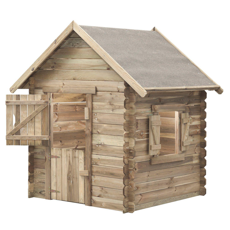 Swingking Spielhaus Louise 160 Cm X 120 Cm X 120 Cm Davon 10 Cm Dachuberstand Kaufen Bei Obi Spielhaus Spielhauser Spielhaus Aus Holz