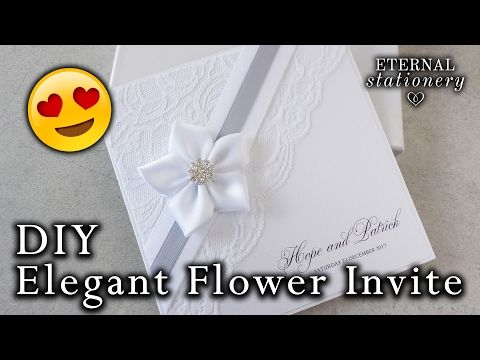 How to make an elegant lace invitation diy wedding invitations how to make an elegant lace invitation diy wedding invitations youtube stopboris