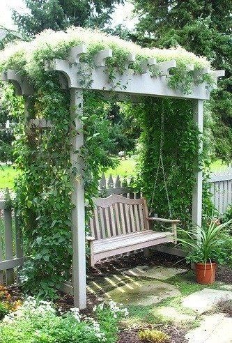 Vine Covered Arbor Swing Inspiration For My New In The Woods Project