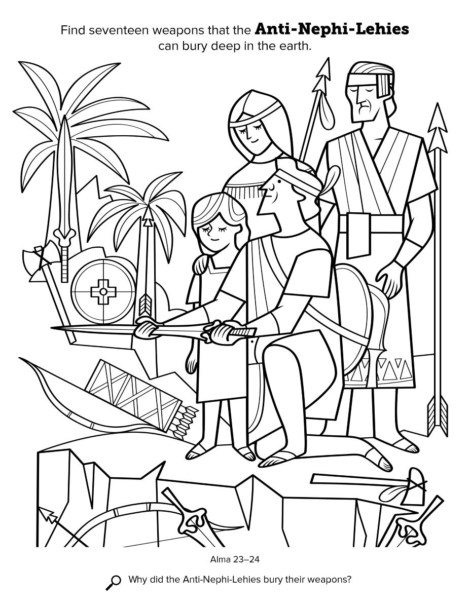Anti Nephi Lehi Coloring Pages Book Of Mormon Lds Books Coloring Pages