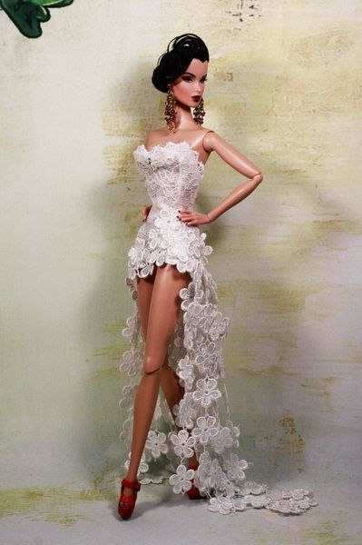 barbie doll in yellow lace dress - Google Search | Barbies ...