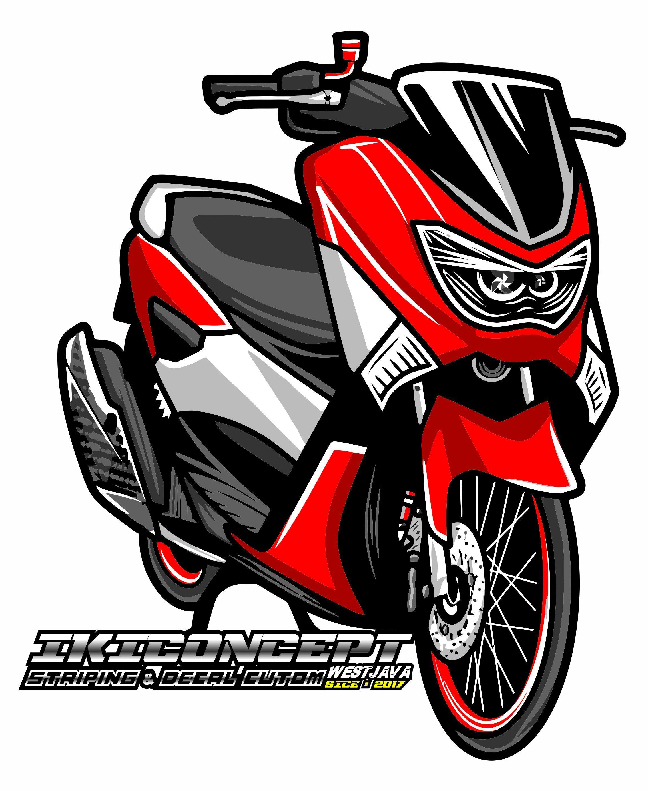 Honda Beat Vector : honda, vector, DON'T, Desain, Otomotif,, Logo,