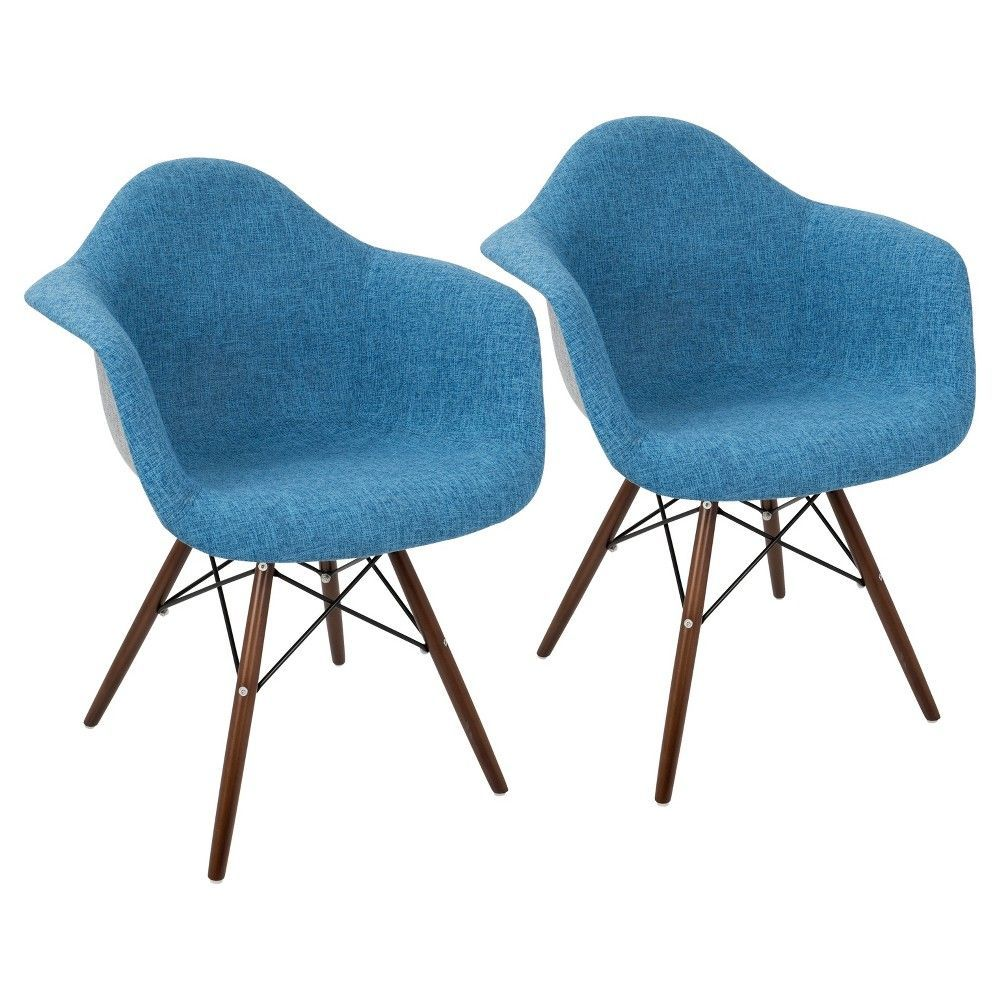 Neo Flair Duo Mid - Century Modern Dining/Accent Chair - Blue/Grey ...