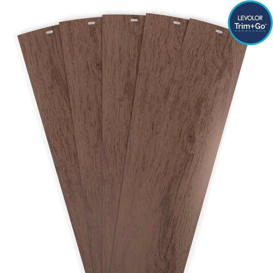 Levolor Trim Go 13 Pack 3 5 In Slat Width 84 In Crown Walnut Plastic Vertical Vanes Lowes Com In 2020 Vertical Blinds Blinds For Arched Windows Vertical