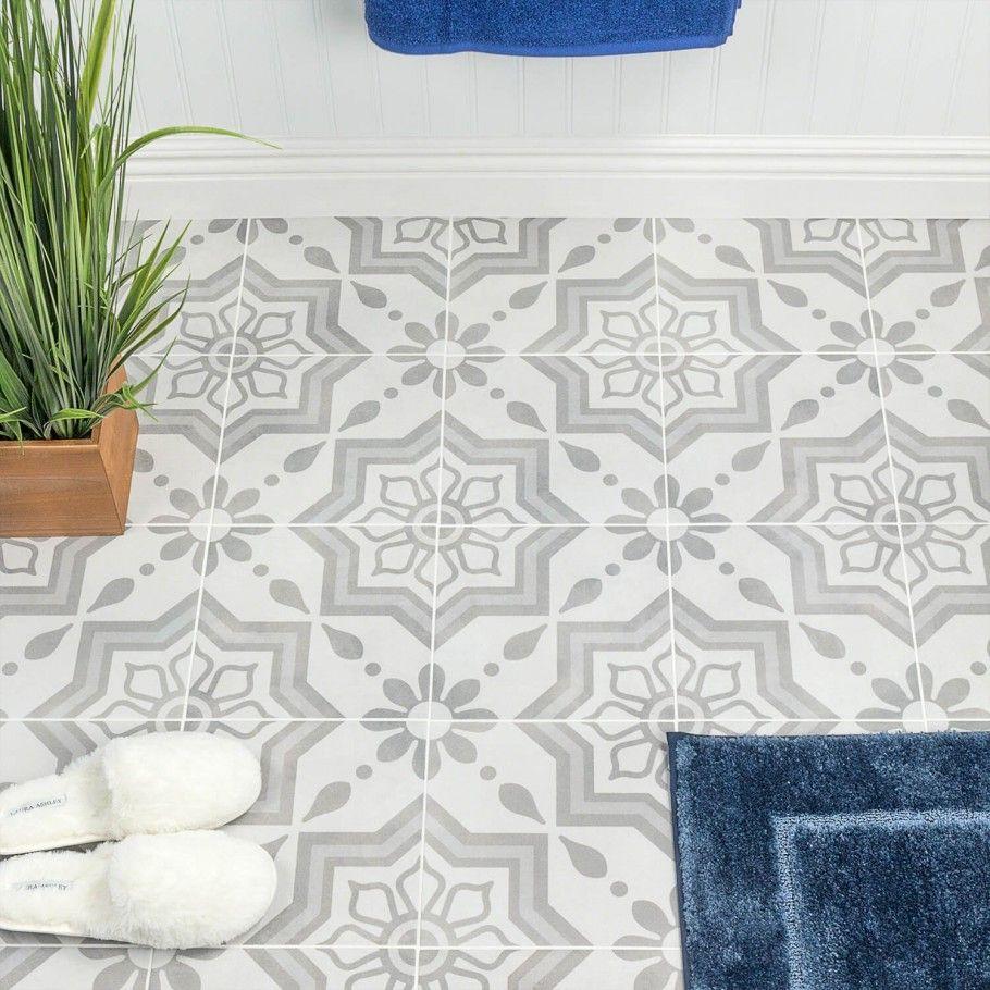 Cascais Silver Sky 9x9 Matte Porcelain Tile Patchwork Tiles Ivy Hill Tile Floor And Wall Tile