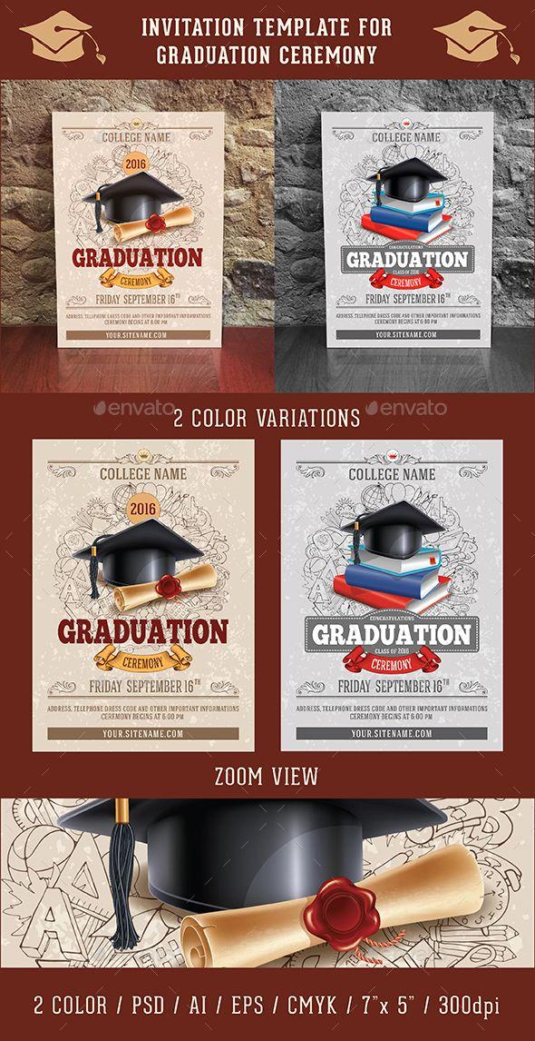 Graduation Ceremony Invitation Template  Invitation Templates