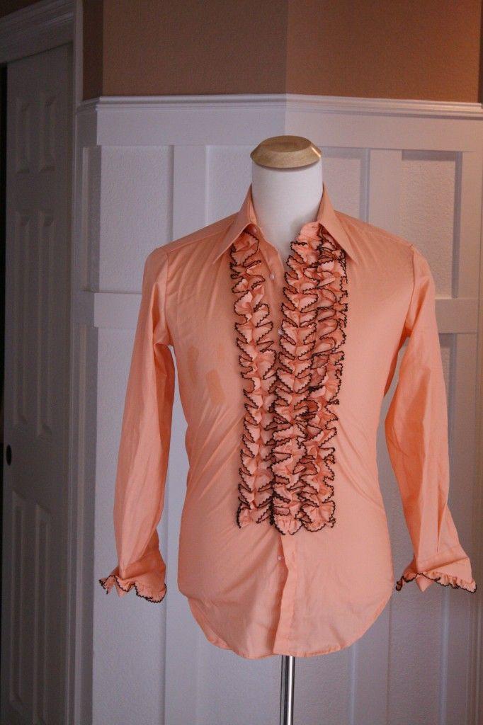 BEST vintage Prom Tuxedo Shirt EVER via Goodwill | dawkins prom ...