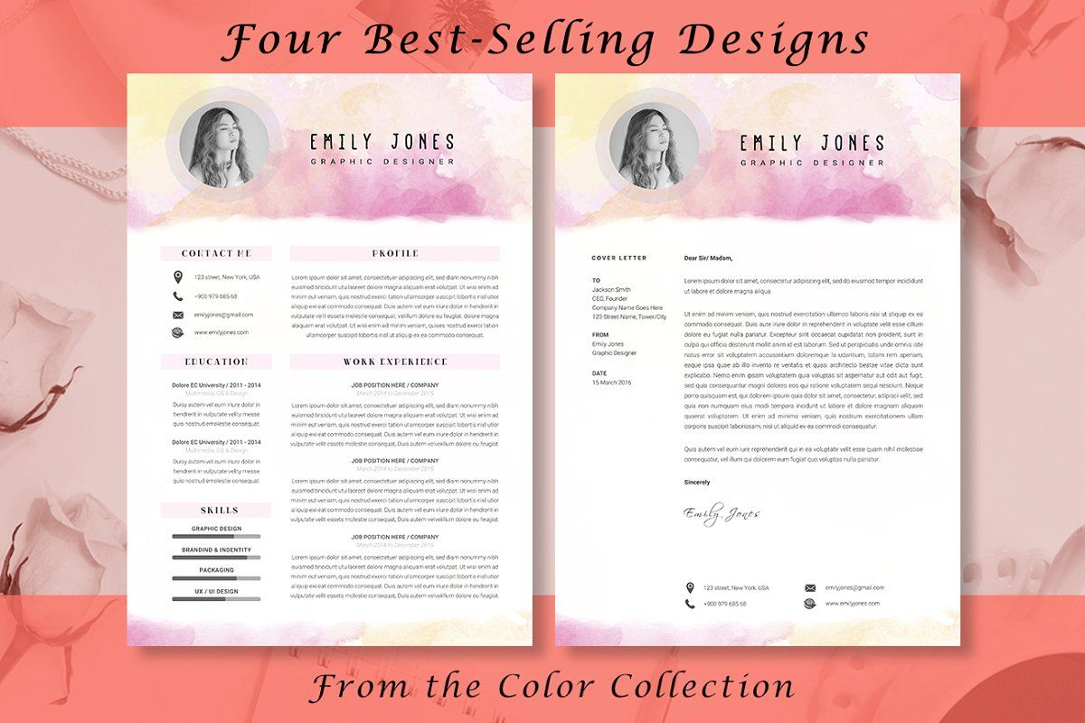 Resume Color Bundle in 2020 Infographic design free, Psd
