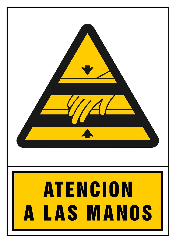 Señal atención a las manos | Señal de advertencia de peligro ...