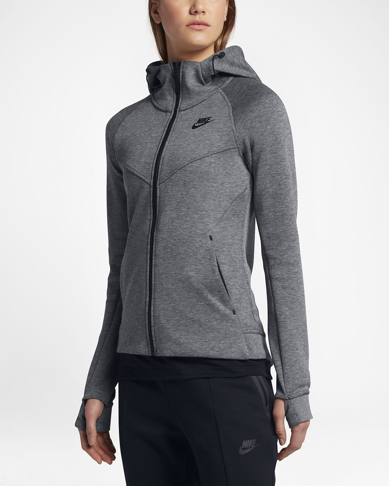 Sweat à capuche entièrement zippé Nike Sportswear Tech Fleece Windrunner  pour Femme 972a008d491