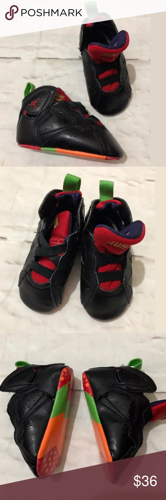 Retro 7 Marvin The Martian Baby Sneakers Infant 2C Retro 7