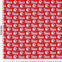 Nfl New England Patriots Red Cotton Fabric Nfl Cotton Nfl New England Patriots New England Patriots Patriots