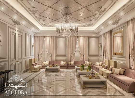 Women majlis design best interior decoration by algedra - Residential interior designers near me ...