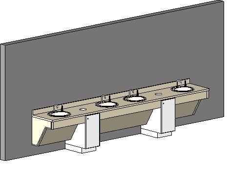 4 sink ada w/trash