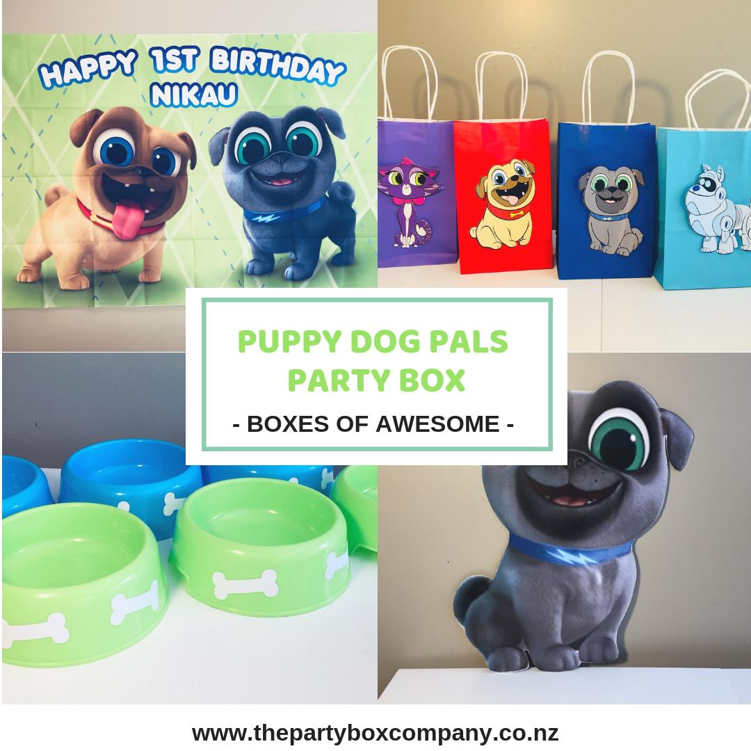 Puppy Dog Pals Party Box In 2020 Puppy Birthday Parties Puppy