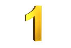 One 1 3d Numbers Gold Png Image With Transparent Background Png Free Png Images Transparent Background Gold Clipart Transparent