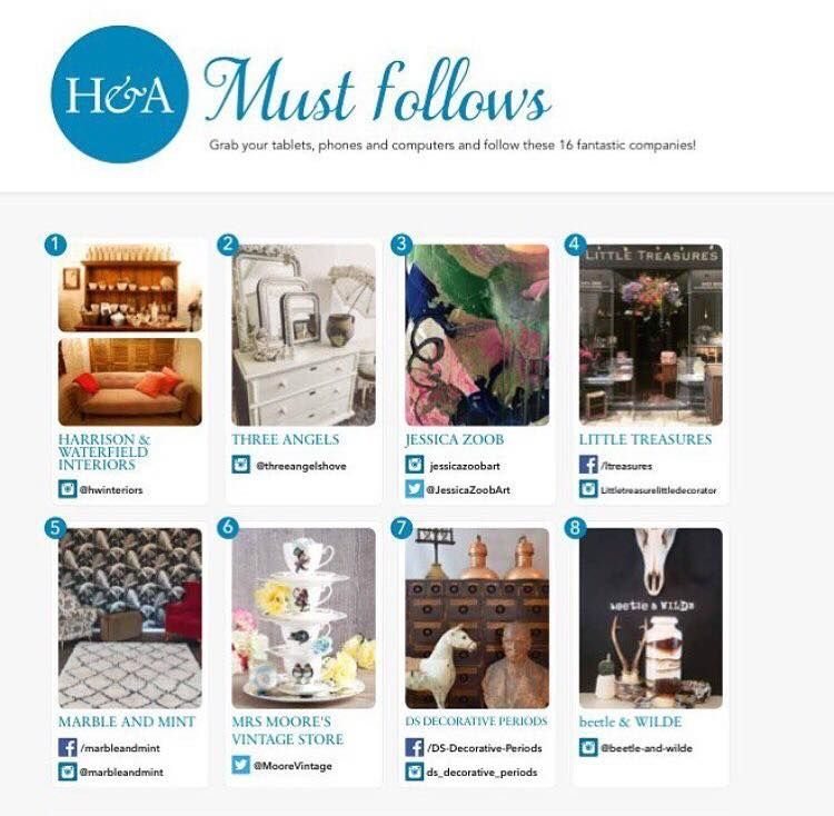 Homes and Antiques October 2016 issue - 'Must Follows'