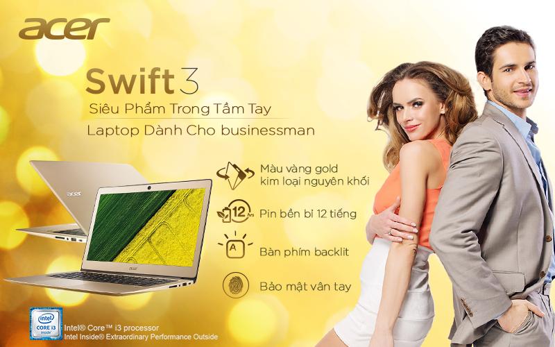 Đánh giá Acer Swift 3: Siêu phẩm sang chảnh, bảo mật cao với cảm biến vân tay #Acer #laptop
