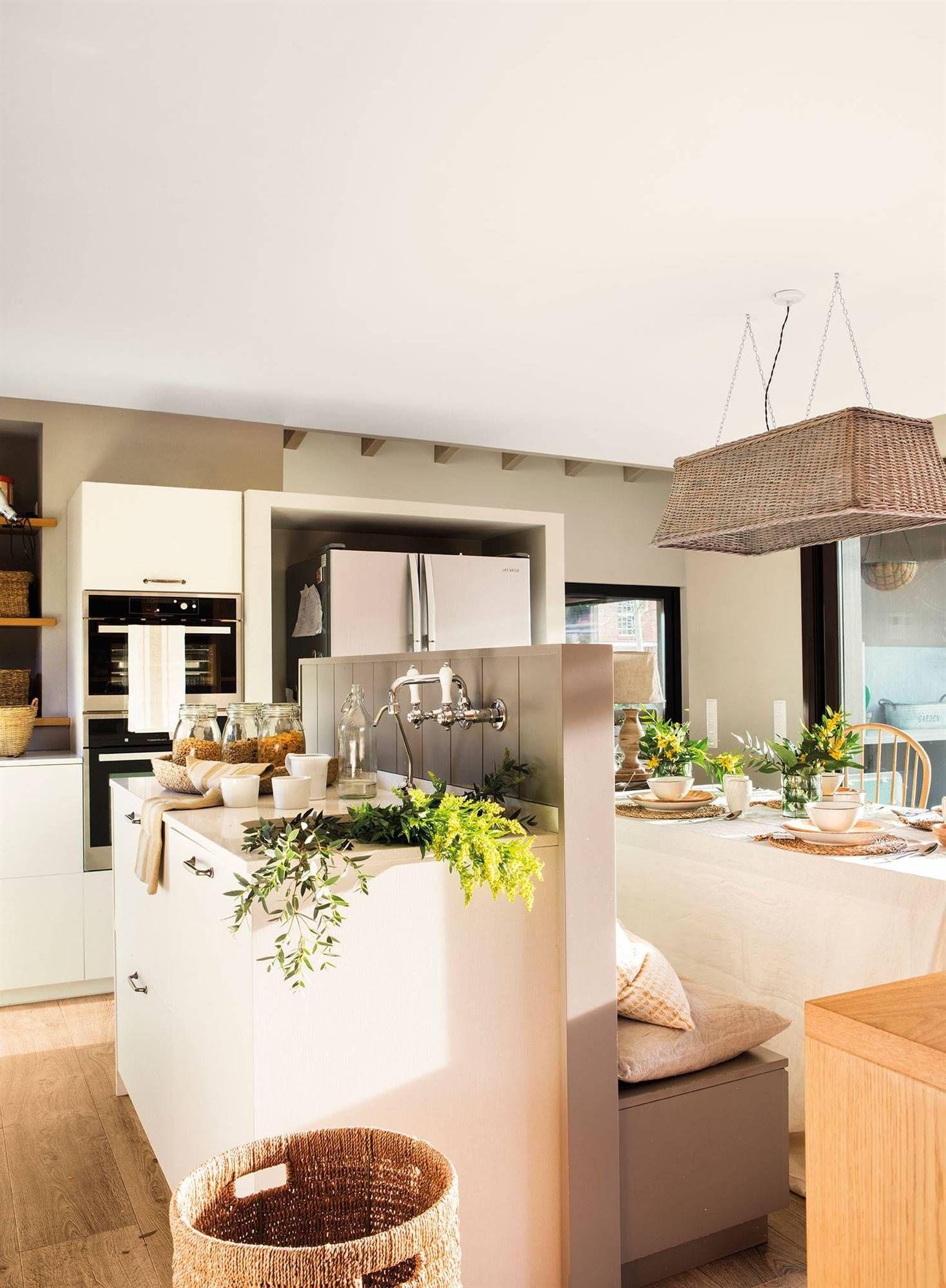 5 Un Mueble Separador Decoracion De Cocina Cocinas Abiertas Cocina Abierta Al Salon