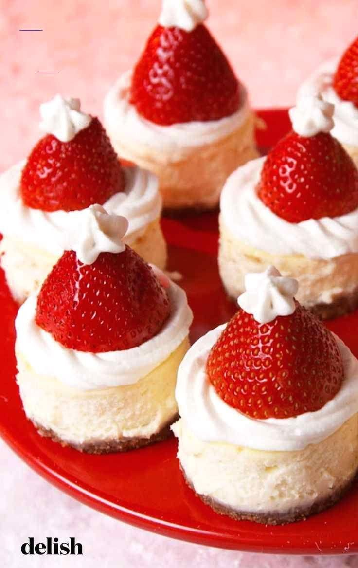 #santa  #hat  #cheesecake  #bites  #christmas  #recipe  #minis  #desserts  #holidays  #christmastreats<br> Adorable Christmas dessert alert: This hack turns a store-bought cheesecake and strawberries into the cutest Santa Hat treat from Delish.com.   #Cheesecake #Bites Santa Hat Cheesecake Bites Santa Hat Cheesecake Bites The cutest way to dress up cheesecake! Get the recipe at Delish.com.