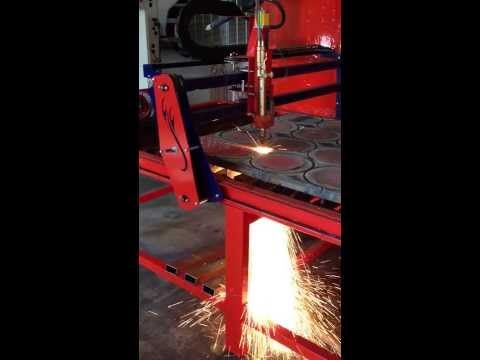 Cutting Inch Thick Plate Oxy Torch Cutting Metal Fab