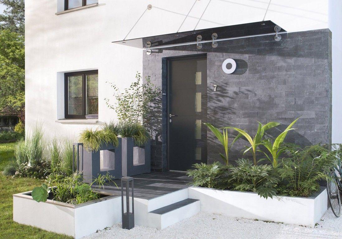 Aménagement Extérieur Entrée Maison idee amenagement exterieur entree maison co avec entree
