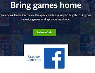 Facebook Game Cards Redeem   How Do I Redeem My Facebook