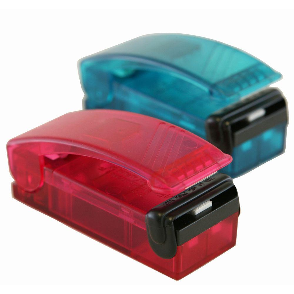 Itouchless Red And Blue Handheld Vacuum Sealer Set 2 Pack Br001u The Home Depot Airtight Food Storage Heat Bag Vacuum Sealer