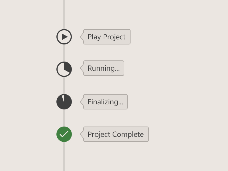 Project Timeline Status Elements  Ui Design