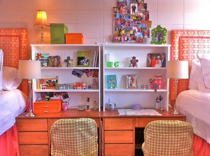 A Small Shelf Set On Top Of Your Desk Is Great Way To Use Vertical E Efficiently You Could Also Divide The Room For Privacy By Putting Desks Back