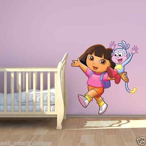 Full Colour Dora The Explorer Boots Wall Sticker Mural Decal Girls Bedroom  Print | EBay Part 7