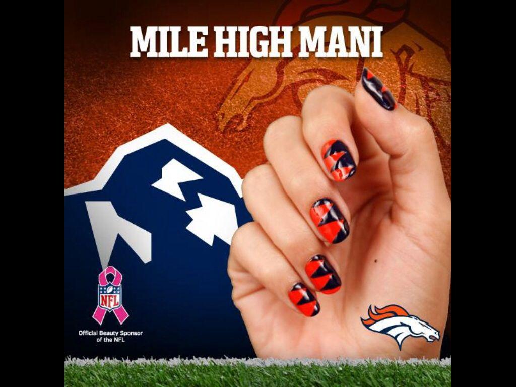 Denver Broncos   uñas :3   Pinterest   Denver and Broncos fans