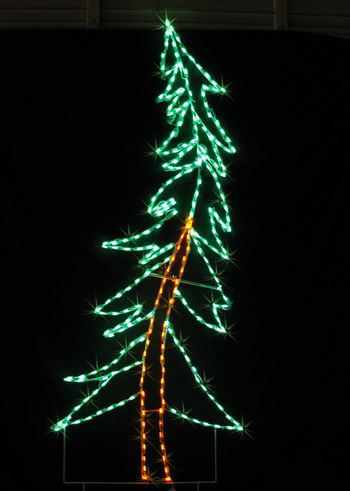 8ft Swaying Pineled Holiday Lights