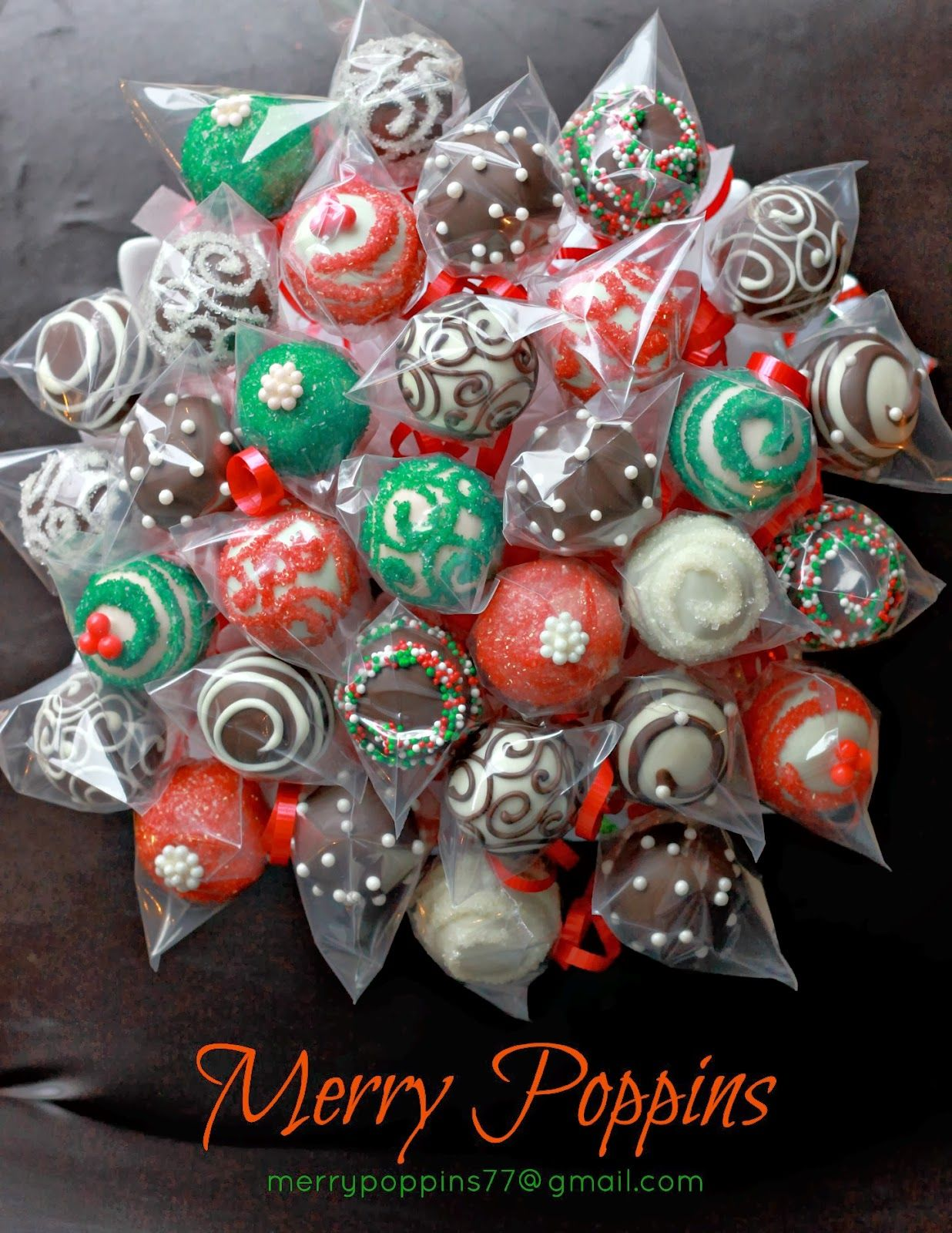 The centrepiece that distracts everyone from the meal. Christmas cake pop Bouquet by Merry Poppins & The centrepiece that distracts everyone from the meal. Christmas ...