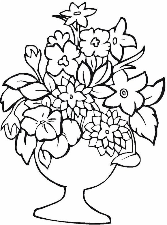 Vase Pottery Coloring Page Printable Flower Coloring Pages Flower Coloring Pages Cool Coloring Pages