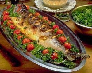 سمك مشوي Yummy Seafood Baked Fish Persian Food