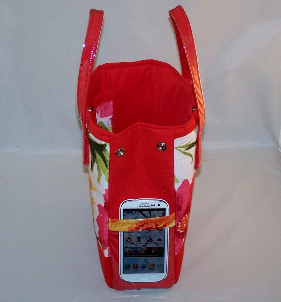 Red Tropical Explosion Handbag by LaCartera on Etsy