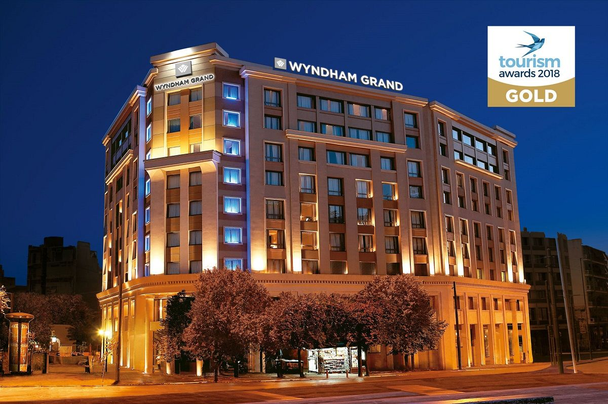 Wyndham Grand Athens Receives Gold Tourism Award For Best City Hotel Gtp Headlines Athens Hotel City Hotel Athens City