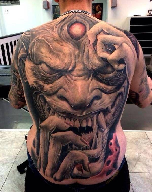 40 eklige horror tattoos tattoos bruh full back. Black Bedroom Furniture Sets. Home Design Ideas