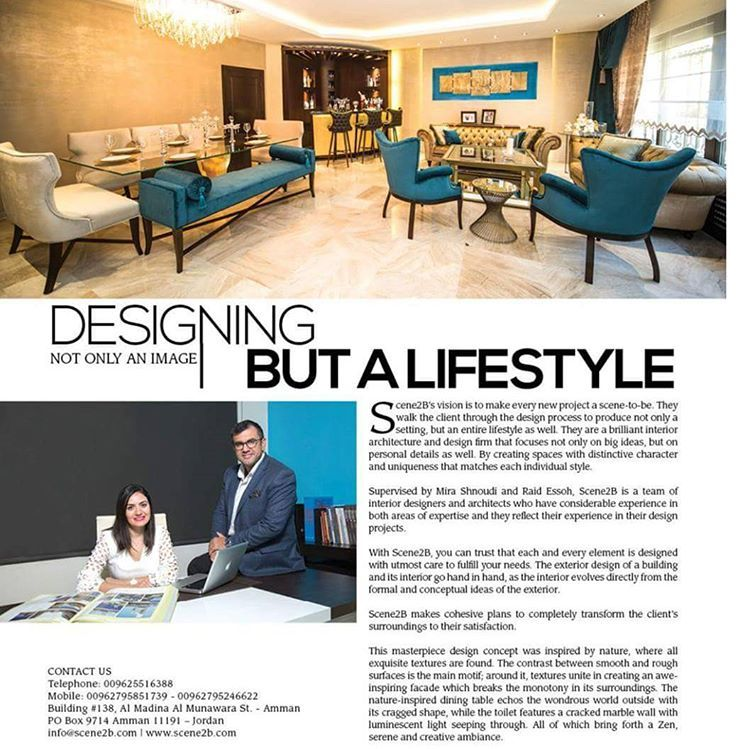 Lovely Supervised By Mira Shnoudi And Raid Essoh, Scene2b Is A Team Of Interior  Designers And