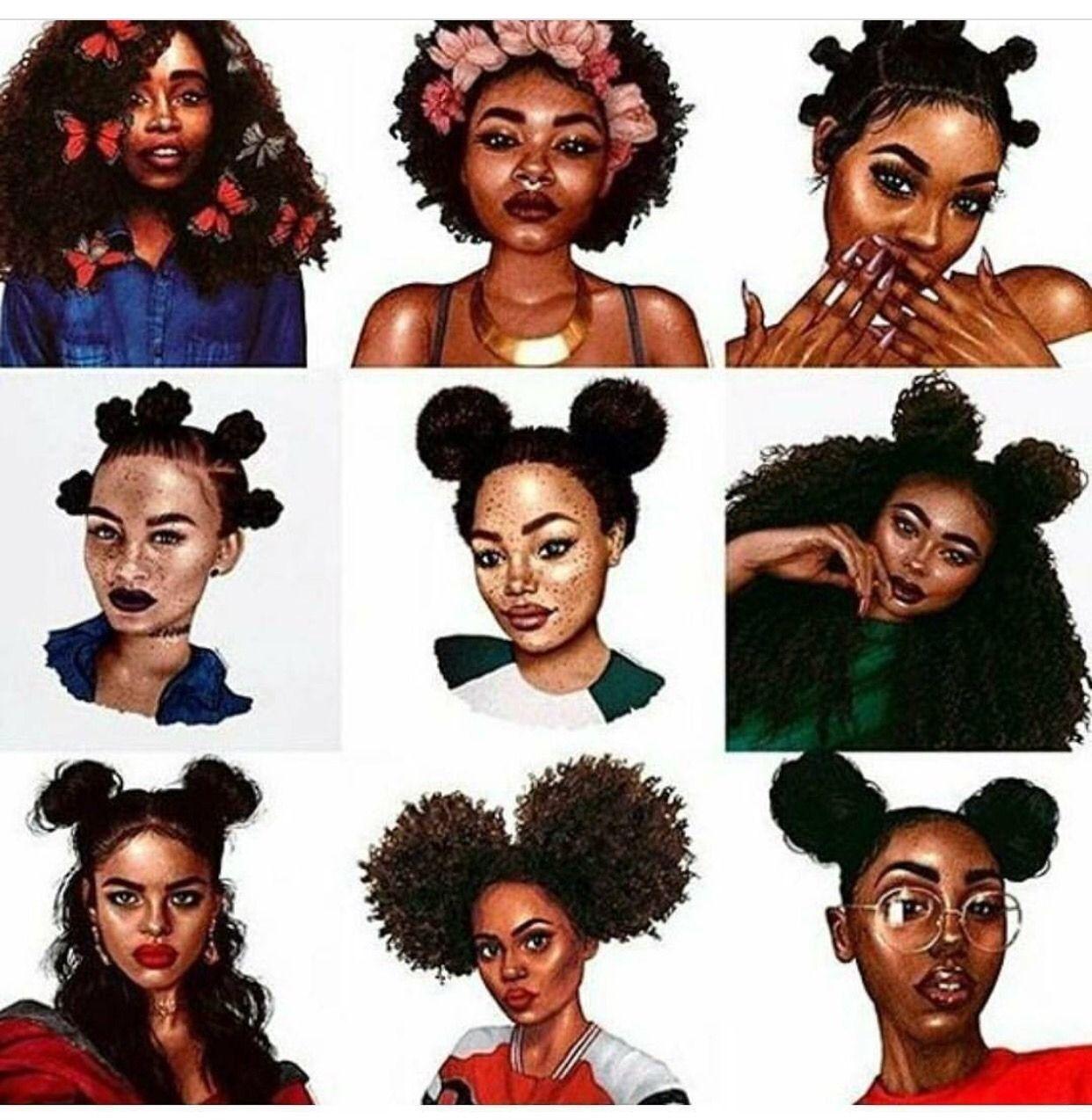 Natural Hair Glory Photo Black Girl Cartoon Black Girl Art Black Women Art
