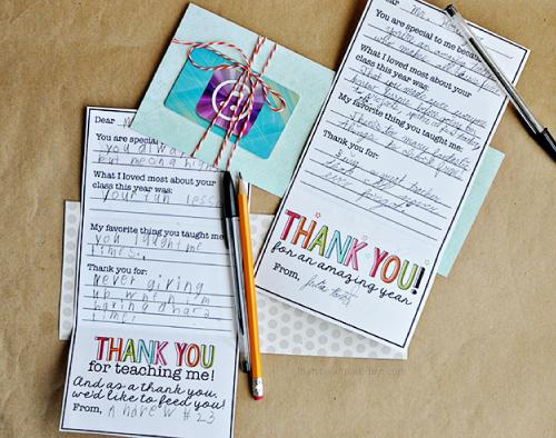 Printable Teacher Appreciation Gift Card By Thirty Handmade Days