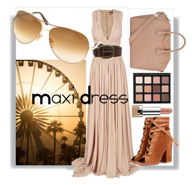 """""""Maxi Dress"""" by xoxolua ❤ liked on Polyvore featuring Balmain, Liebeskind, Gianvito Rossi, Tom Ford, Marc Jacobs and Givenchy"""